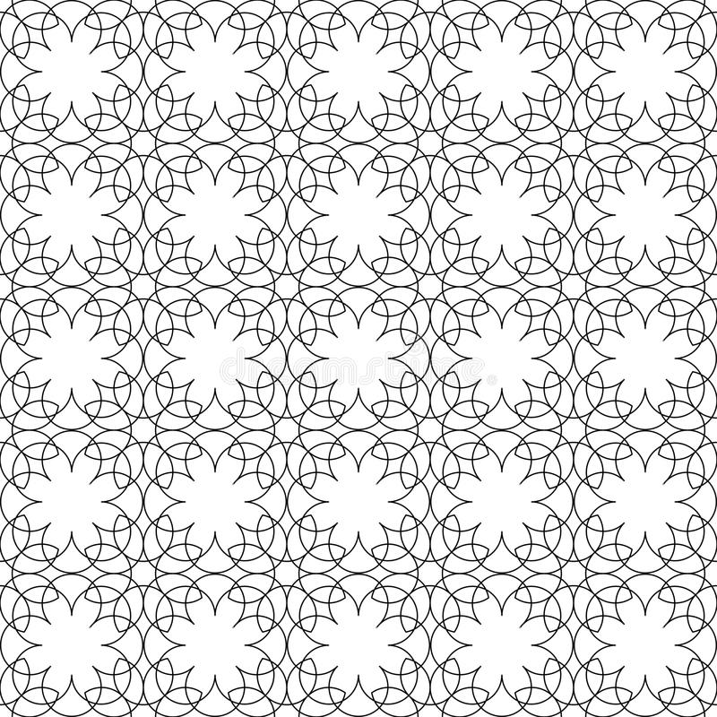 Black and white geometric seamless pattern flower stylish with l vector illustration