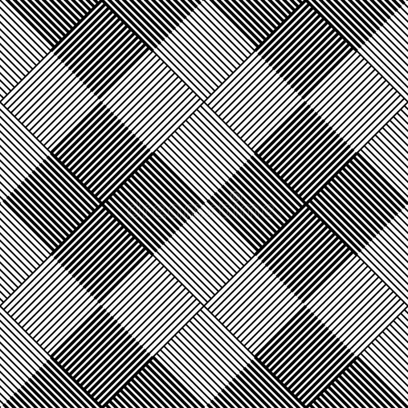 Black and white geometric seamless pattern vector illustration
