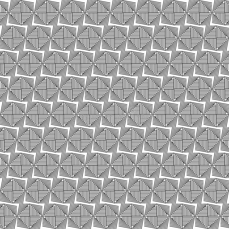Black and white geometric seamless pattern with line. vector illustration
