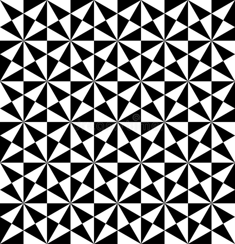 Black and white geometric seamless pattern with triangle, abstract background. vector illustration