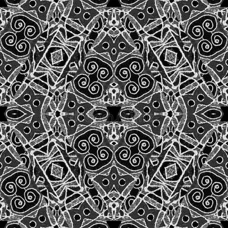 Black And White Geometric Tribal Pattern Stock Illustration Image 59227892