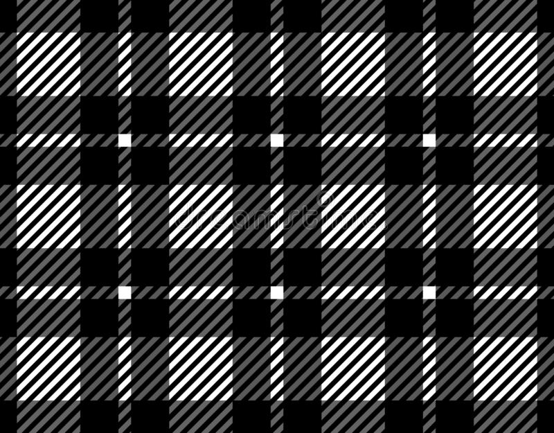 Black and white gingham pattern background for plaid,tablecloths for textile articles, illustration.EPS-10. Black and white gingham pattern background for plaid vector illustration