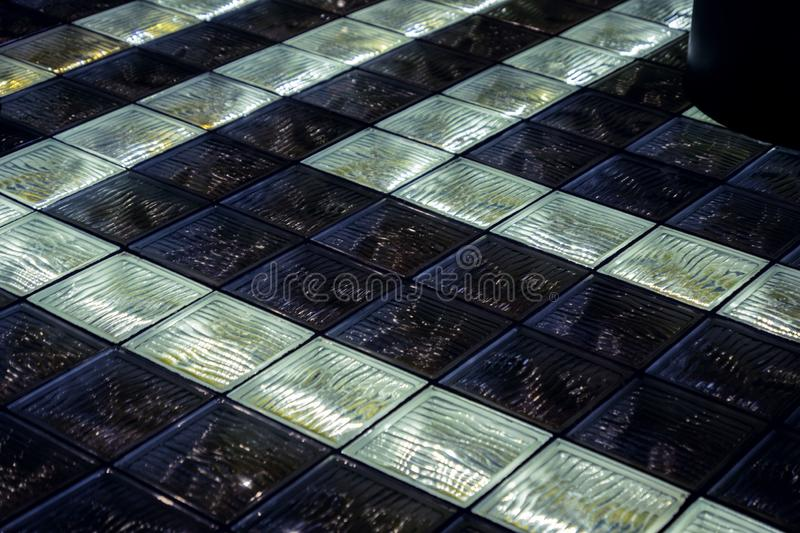 Glass floor decoration royalty free stock image