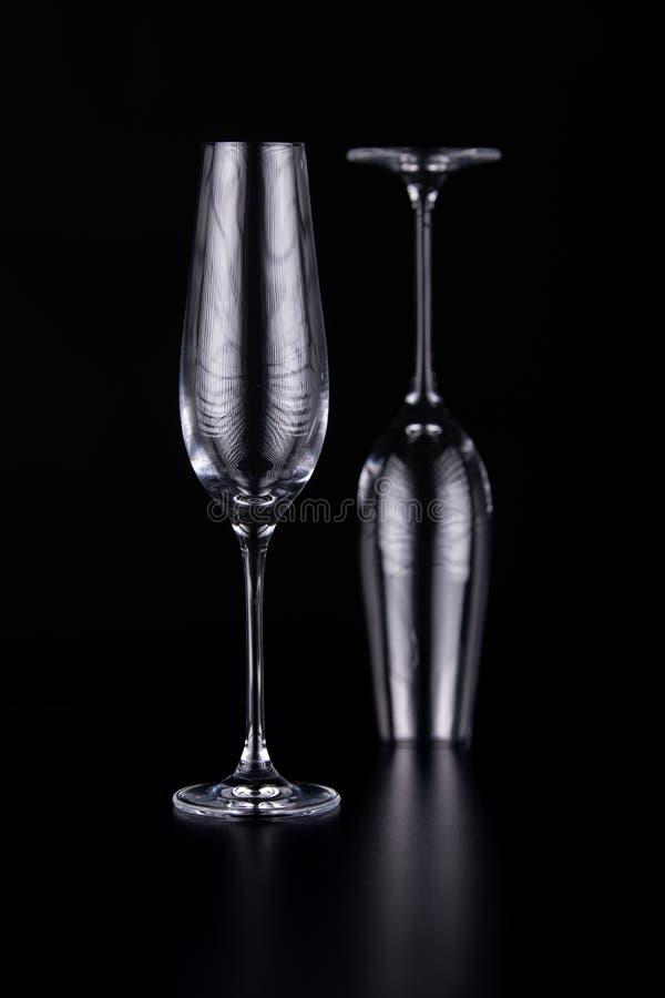 Black and white glasses stock image