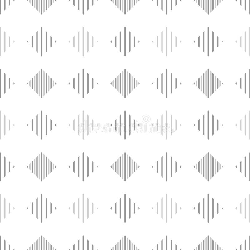 Black white and gray striped rhombus geometric seamless pattern, vector vector illustration