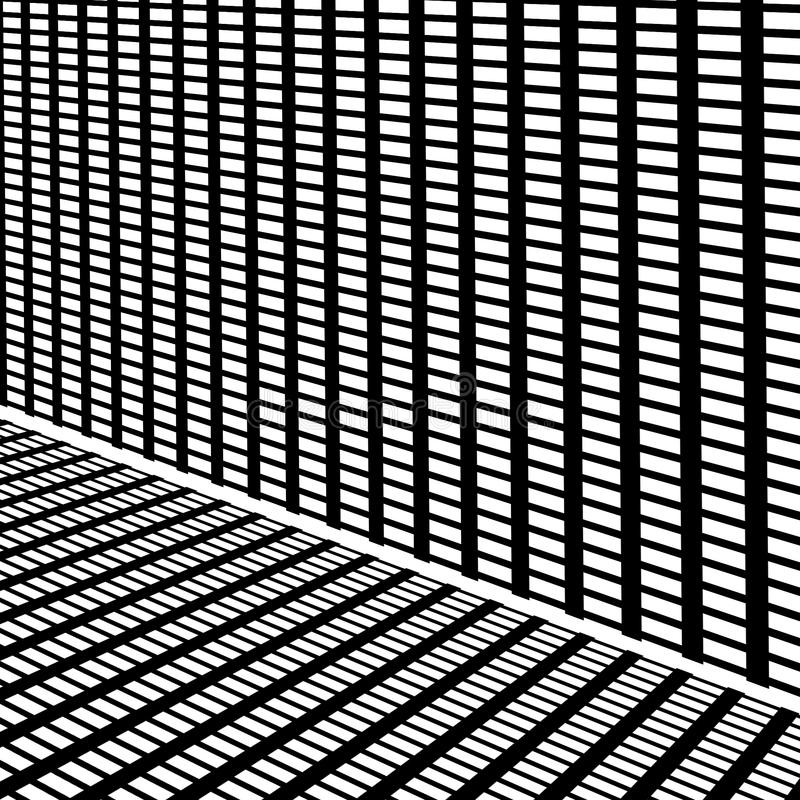 Black and white grid. With straight lines vector illustration