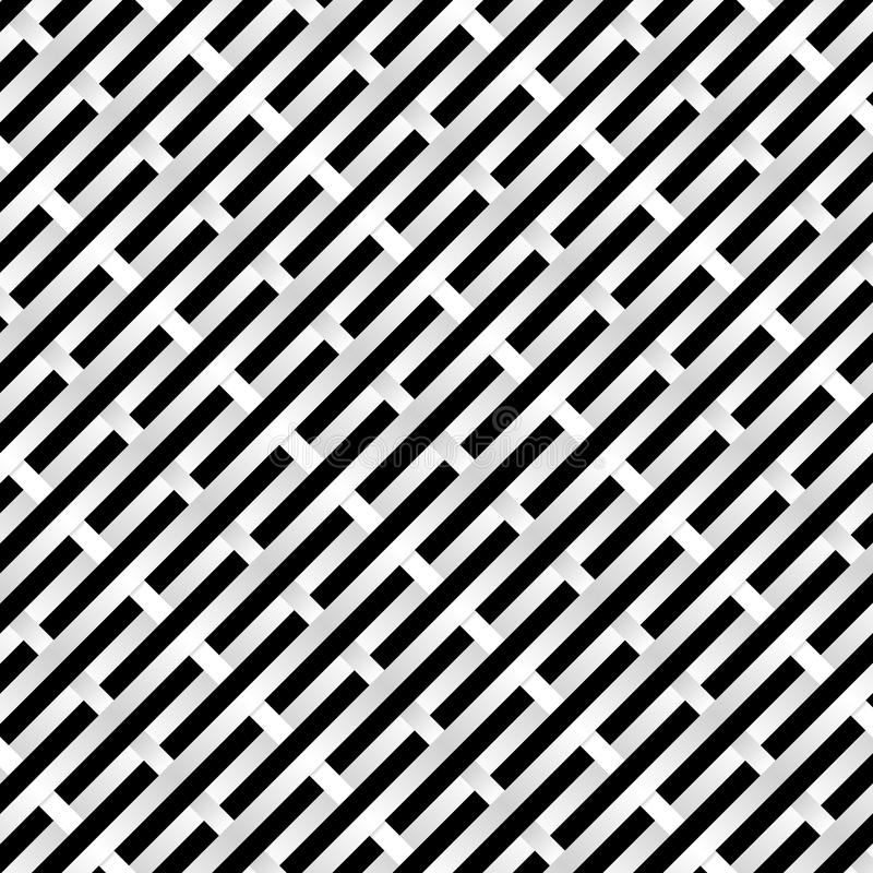 Black and white Grid. Abstract Black and white Grid. Illustration for design royalty free illustration