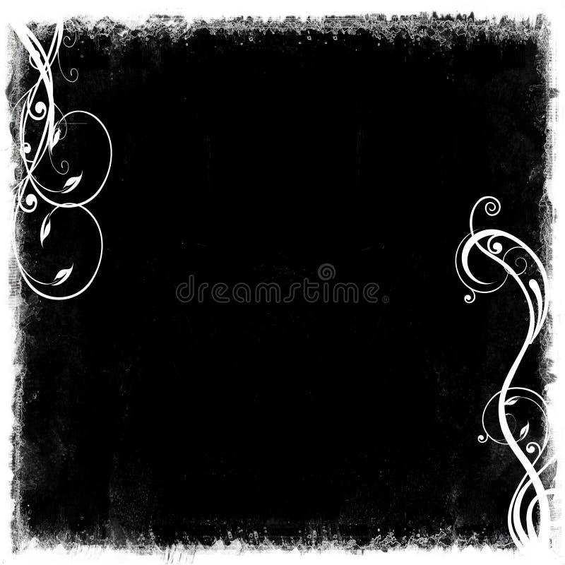 Free Black White Grunge Frame Royalty Free Stock Photo - 24131235