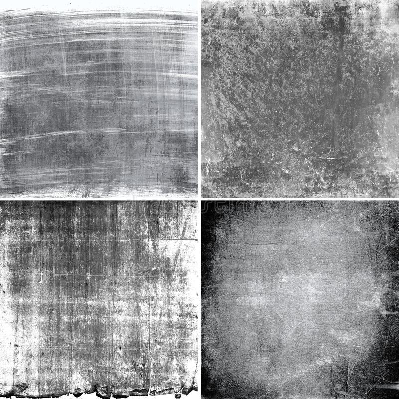 Black and white grunge textures stock images