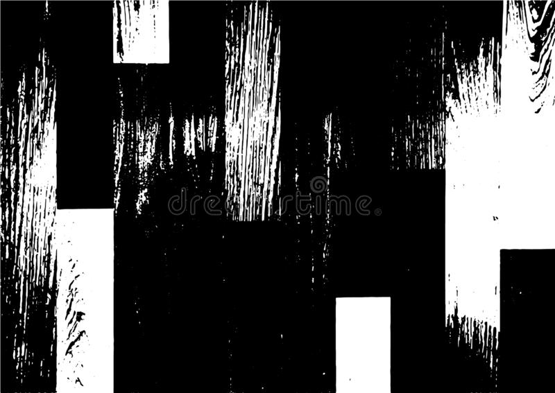 Black and white grunge urban texture  with copy space. Abstract illustration surface dust and rough dirty wall background wi. Th empty template. Distress and stock illustration