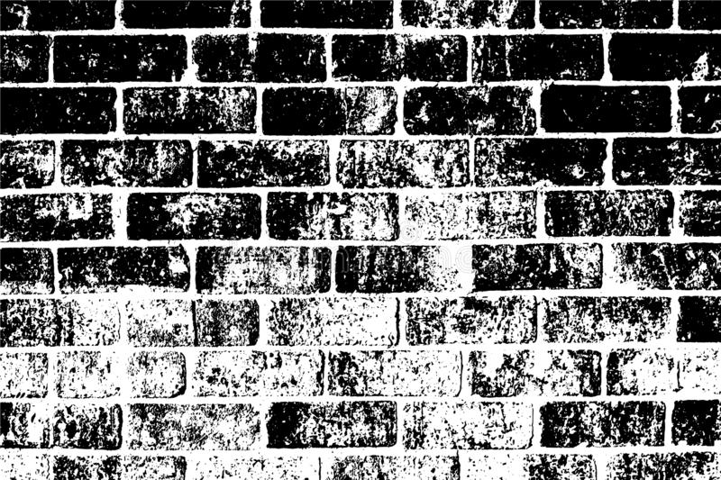 Black and white grunge urban texture with copy space. Abstract illustration surface dust and rough dirty wall background wi. Th empty template. Distress or dirt royalty free illustration