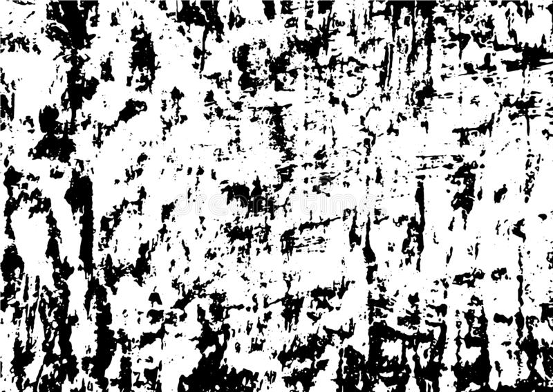Black and white grunge urban texture  with copy space. Abstract illustration surface dust and rough dirty wall background wi. Th empty template. Distress and royalty free illustration