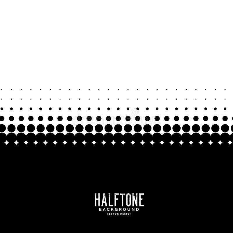 Black and white halftone background royalty free illustration
