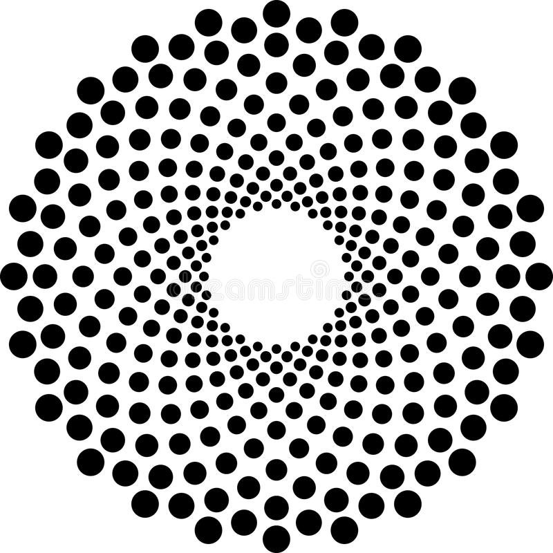 Black and White Halftone Circle Vector stock image