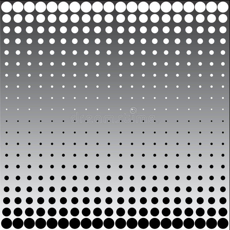 Download Black white halftone dots stock vector. Image of black - 6978974