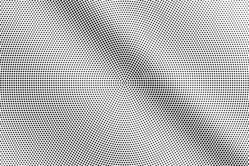 Black and white halftone vector. Diagonal dotted gradient. Frequent smooth dotwork surface. Vintage overlay textured with ink dots. Monochrome halftone stock images