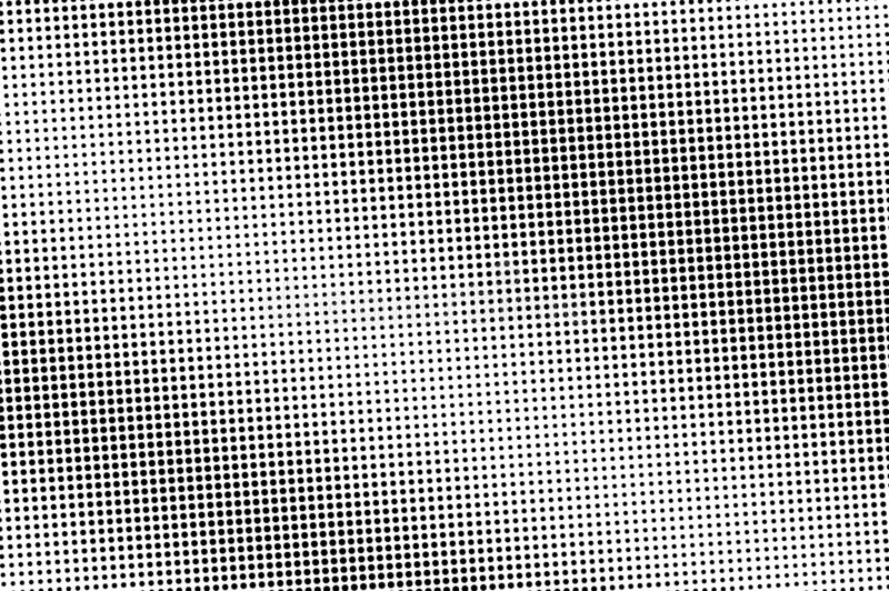 Black and white halftone vector. Diagonal dotted gradient. Vintage perforated texture. Retro style overlay royalty free stock photography