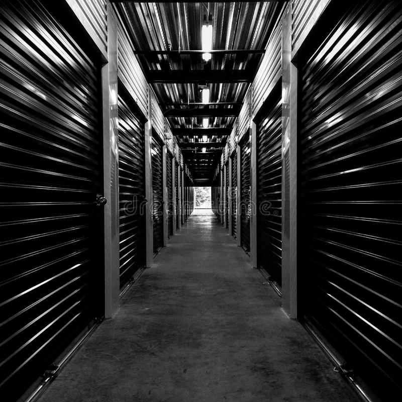 Black and white hallway stock photos