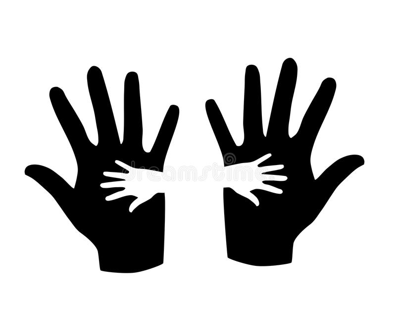 Download Black and white hands. stock vector. Illustration of illustration - 34019714