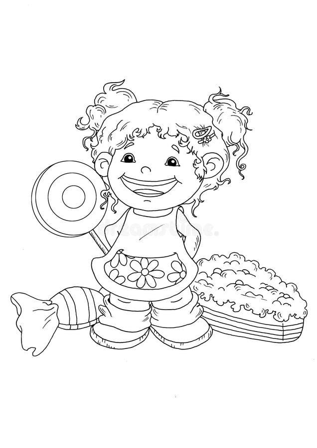 Black and white - happy child stock photo