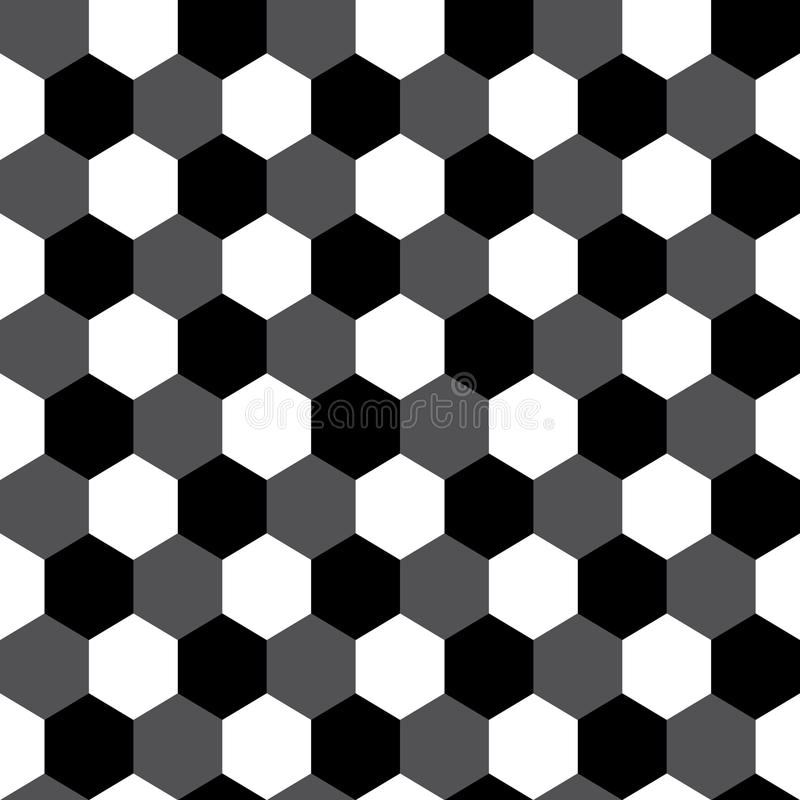 Black and white hexagon geometric seamless pattern, vector vector illustration