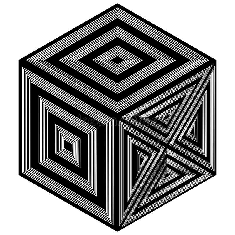 Black And White Hexagon Pattern Vector. Black And White Hexagon Pattern Background vector illustration