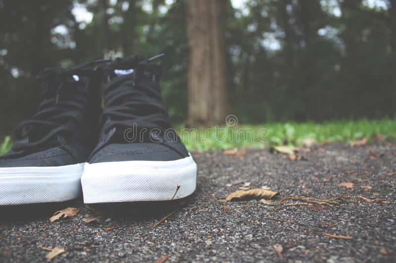 Black And White High Top Sneakers Free Public Domain Cc0 Image