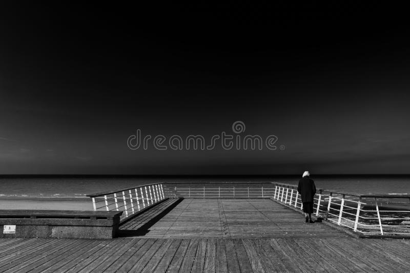 Black And White, Horizon, Monochrome Photography, Sky royalty free stock photography