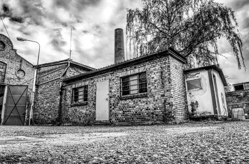 Black And White, House, Home, Town stock photography