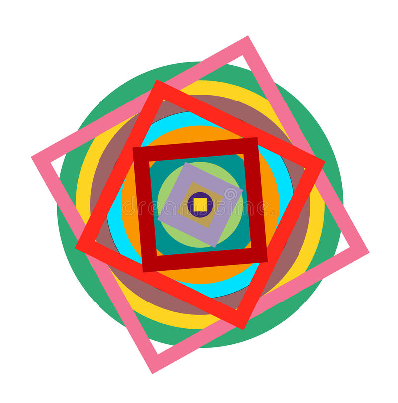 Black and white hypnotic background. EPS10 vector illustration