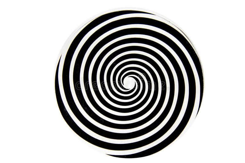 Black and white hypnotic whirlpool. Shape royalty free stock photos