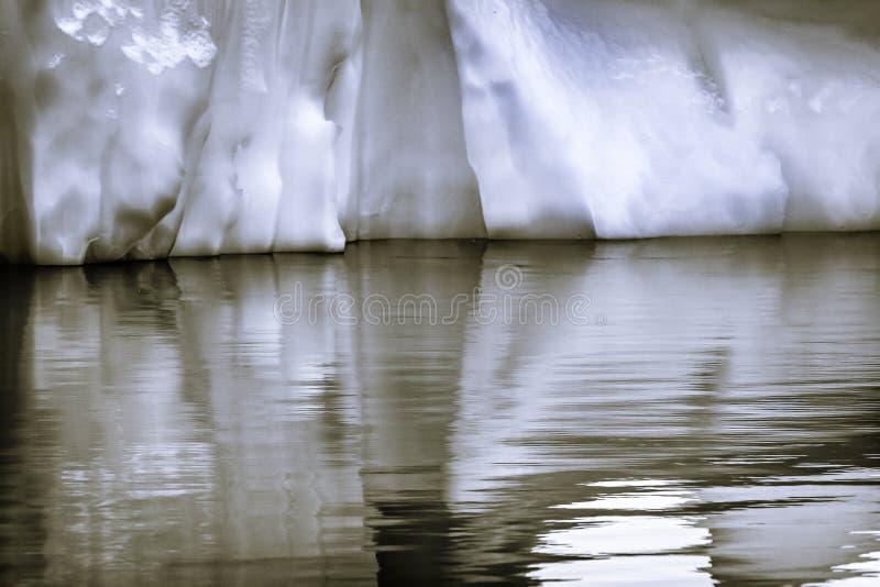 Black White Iceberg Reflection Abstract Paradise Bay Skintorp Cove Antarctica royalty free stock image