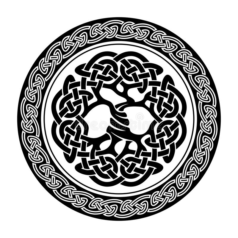 Celtic Tree of Life royalty free illustration