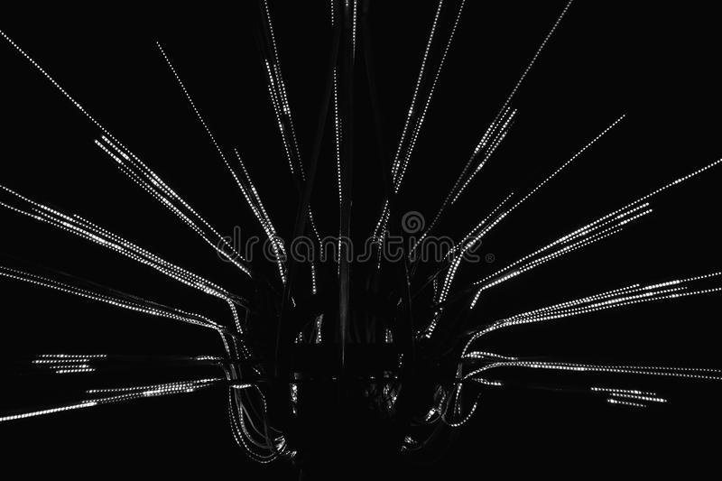 A black and white image of abstract geometrical object stock photo