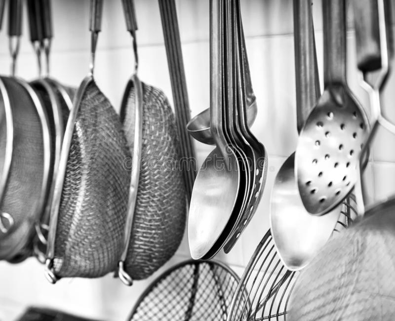 Commercial Kitchen Utensils Stock Photo Image Of