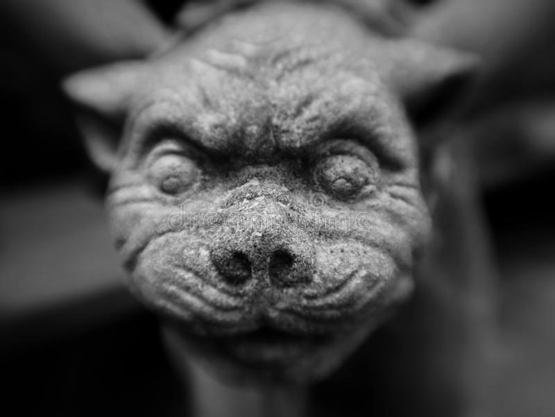 Gargoyle up close royalty free stock photos