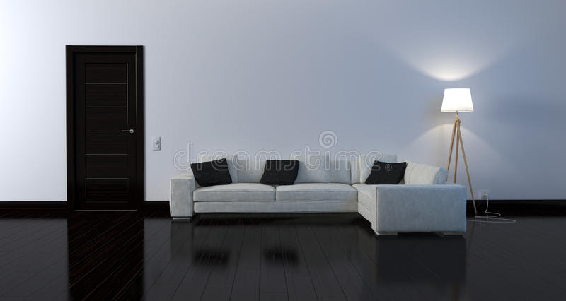 Black and white interior stock photography