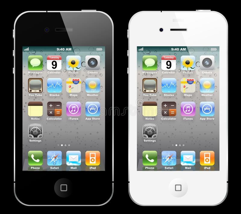 Black And White IPhone Editorial Stock Photo