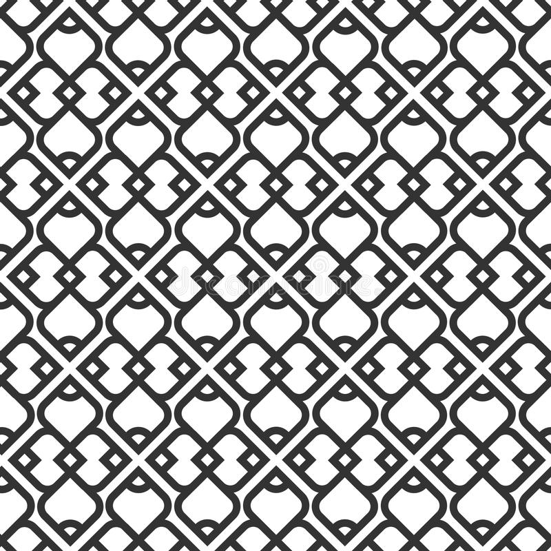 Black and white islamic seamless pattern royalty free illustration