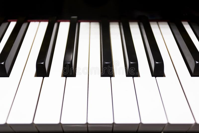 Black and white key of piano. Note DO to SI stock photo