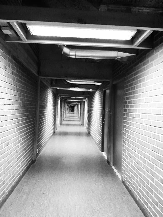 Black&white korytarz zdjęcia stock
