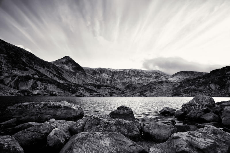 Black and white landscape stock photos
