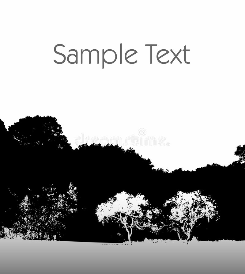 Download Black and white landscape stock vector. Image of wood - 6279454