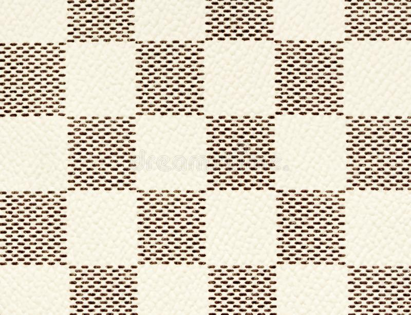 Black and white leather texture background, checker chess seamless pattern stock images