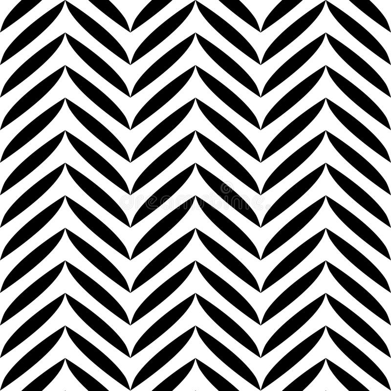 Black and white leaves pattern. royalty free illustration