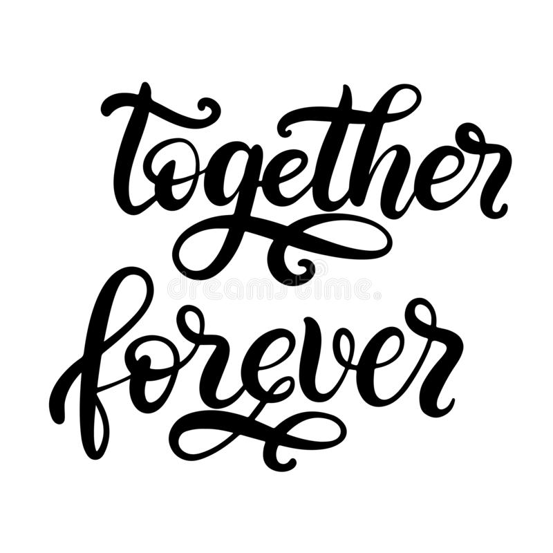 Black and white lettering vector illustration. royalty free illustration