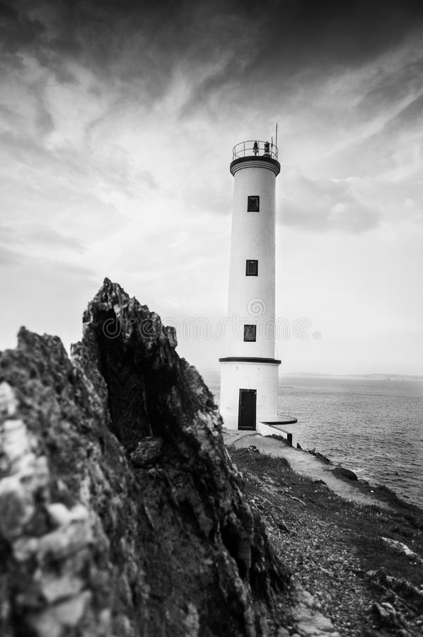 Download Black and white lighthouse stock image. Image of maritime - 26544281