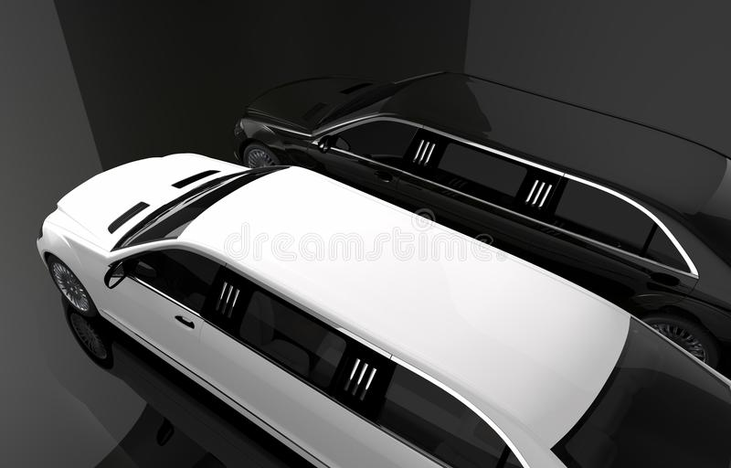Black and White Limousine royalty free illustration
