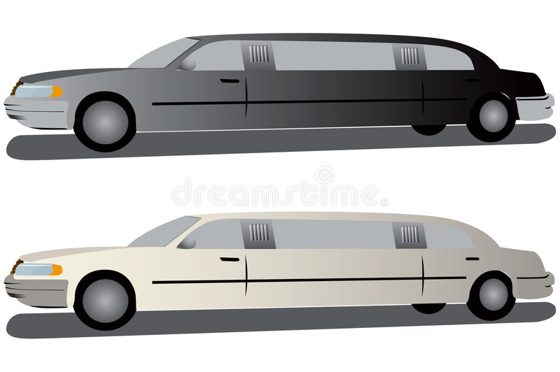 Download Black And White Limousines. Stock Vector - Illustration: 829275