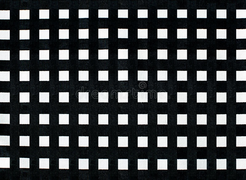 Black and white linear tablecloth stock photography